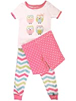 Little Me Baby Girls' Happy Owls 3 Piece Pajamas