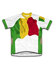 Mali Flag Short Sleeve Cycling Jersey for Women
