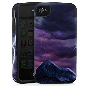 Apple iPhone 4 Case Hülle Cover Schutzhülle ToughCase black/black - Purple Lightning