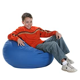 Anywhere Vinyl Lounger Bean Bag Chair   Medium: Toys U0026 Games