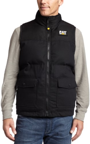 Caterpillar Mens Trademark Vest, Black, Medium