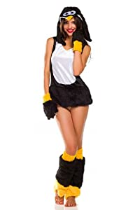 Amour- Deluxe Furry Animal Adult Women Cosplay Halloween Costume (Penguin)
