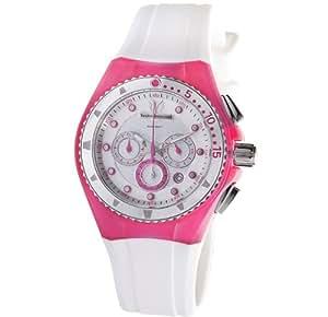 Technomarine - 109012 - Montre Femme - Quartz - Chronographe - Bracelet Caoutchouc Blanc
