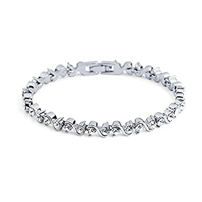 Bracelet with Crystals from Swarovski in Platinum Finish