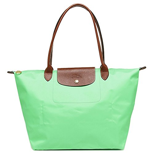 Longchamp discount duty free Longchamp Large Shoulder Tote - Le Pliage - Green
