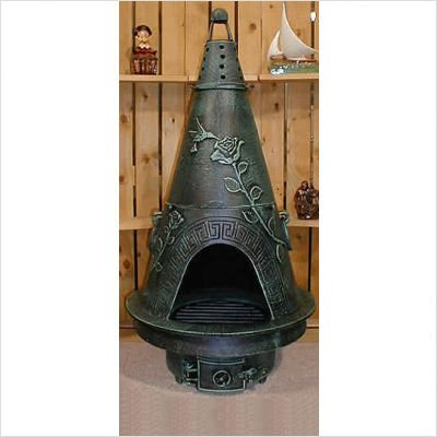 Garden-Style-Chiminea-with-Gas-Kit-Finish-Antique-Green