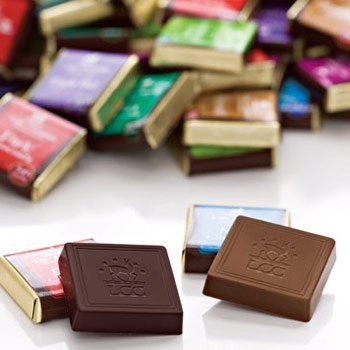 Chocolate Wedding Favors 29 Popular Assorted Chocolate Squares piece