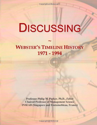 Discussing: Webster'S Timeline History, 1971 - 1994
