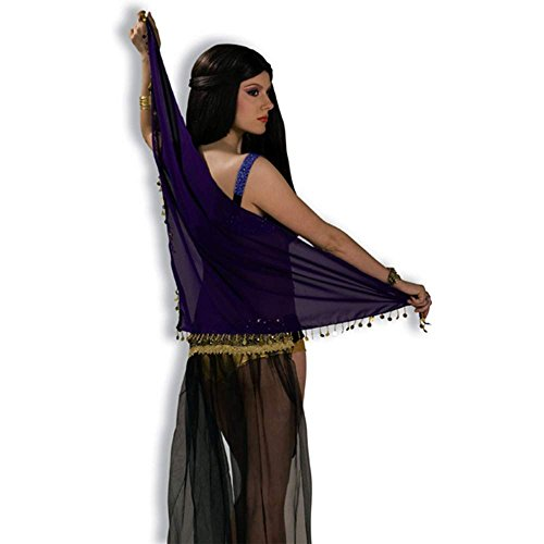 Desert Princess Purple Veil Scarf