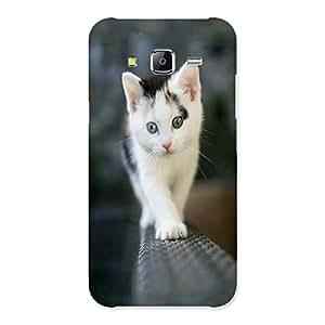 Ajay Enterprises Walking Cute Cat Back Case Cover for Samsung Galaxy J5