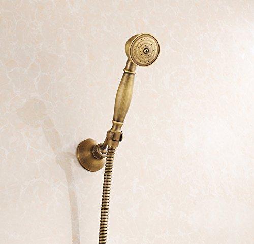 Rozin Handheld Shower Head + Shower Hose + Shower Base Antique Brass (Shower Head Antique Brass compare prices)