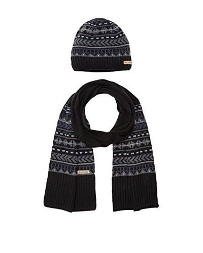 Columbia Set Cappellino e Sciarpa Winter Worn Hat And Scarf Set [Bianco/Blu Chiaro]