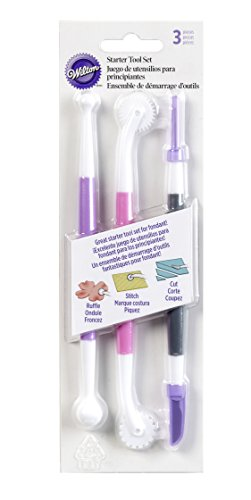 Wilton 1907-1349 Basic 3-Piece Fondant and Gum Paste Tool Set