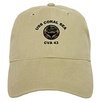 USS Coral Sea CV 43 Military Cap by CafePress