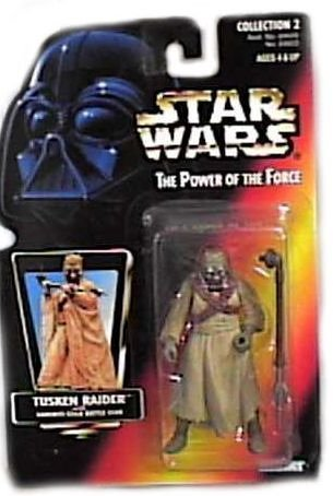 Star Wars Power of the Force Tusken Raider Red Card Action Figure with Gaderffi Stick Battle Club - 1