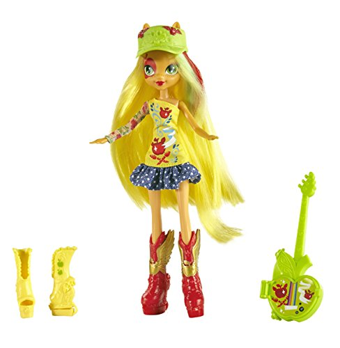 My Little Pony - Equestria Girls, Bambola di Applejack con la chitarra e altri accessori
