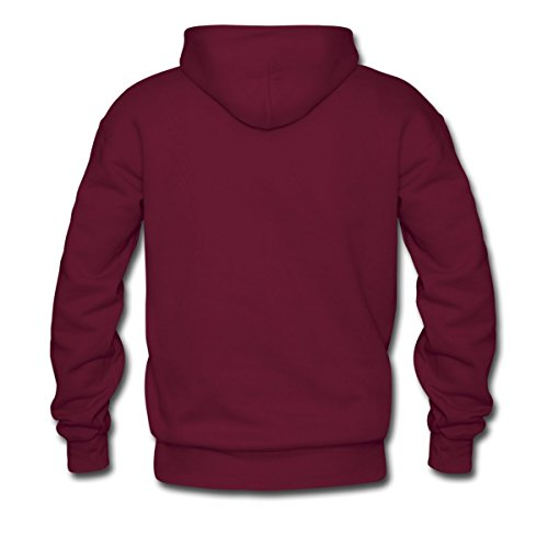 Spreadshirt Men'S Through The Miricale Of Time Bbq... Hoodie, Burgundy, Xxl