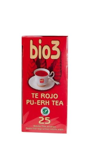 Bio3 Herbal Natural Tea 25 Bags (Pu-Erh Tea Organic Red Tea)