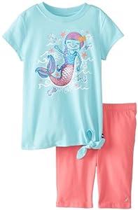 Nautica Girls 2-6X Mermaid Toddler Short Set from Nautica