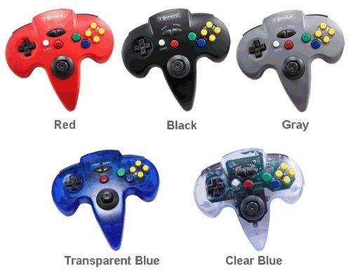 Imagen de Nintendo 64 con conexión de cable del controlador