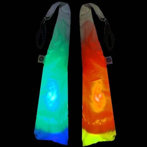 Ultrapoi & Ultrasocks W/ Loop Swivel Handles Set - Led Poi For Raves And Concerts - Professional Led Poi (Rainbow)