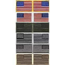 United States of America - US FLAG PATCHES - Regular & Reverse (2' x 3')