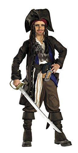 Boys Pirates Of Carribean Jack Kids Child Fancy Dress Party Halloween Costume