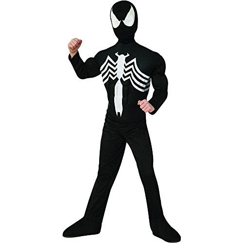Black Spider-Man Muscle Chest Kids Costume