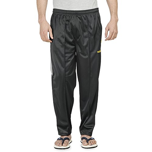 Calgary Black Polyester Track Pants For Men(X-Large)