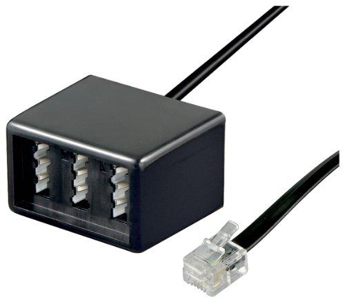 RJ11-TAE-Adapter-lose-Ware-RJ11-Stecker-TAE-Buchsen-TEL-ADAP-RJ11-TAE-NFN-black