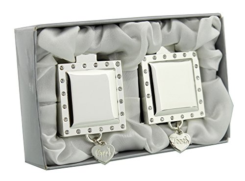 First Tooth and First Curl Silver Plated Gift Set with Diamantes By Haysom Interiors