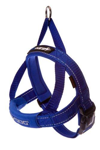 EzyDog Quick Fit Dog Harness, Medium, Blue