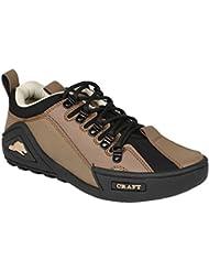 Nuke Woodcraft Tan & Black Casual Shoes For Men