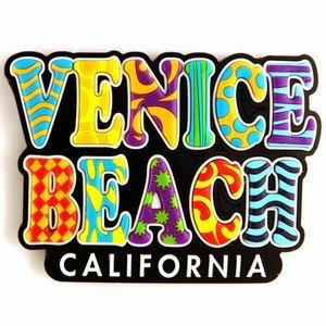 Venice Beach Spellout Laser Magnet 47103 shakespeare w the merchant of venice книга для чтения