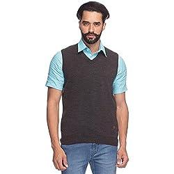 Raymond Men's Synthetic Sweater (8907252534197_RMWY00447-G8_44_Grey)