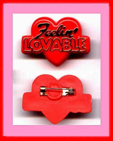 Hallmark Valentine Lapel Pin Heart Feelin' Lovable