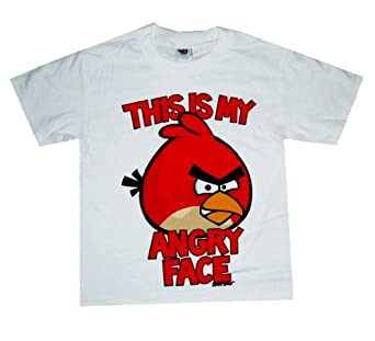 Fifth Sun Angry Birds Angry Face Youth - Boys T-shirt, White, Small