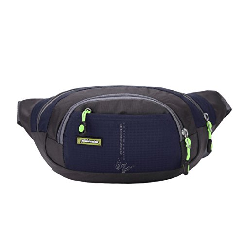 Sport Marsupio Clode® Esecuzione Bum Travel Borsa Handy Escursionismo Sport Cintura Marsupio Zip Pouch (Colour : Dark blue)