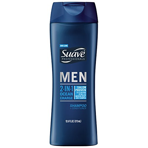 Suave Professionals Men 2-in-1 Shampoo + Conditioner, Ocean Charge 12.6 oz (Pack of 6) (Suave Men Shampoo And Conditioner compare prices)