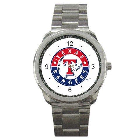 MLB Texas Rangers Graphic Logo Sport Metal Watch