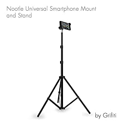 Grifiti Nootle Universal Phone Mount and Adjustable Tripod Stand Mini Ball Head Travel Case for All Phones iPhones Galaxy Cameras Videos, Photos, Movies