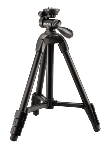 Sony VCT-R100 Lightweight Compact Tripod with 3-Way Pan/Tilt Head