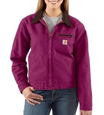 Carhartt Cotton Detroit Jacket, Raspberry, Large