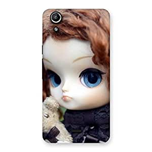 Cute Hugging Teddy Doll Multicolor Back Case Cover for Micromax Canvas Selfie Lens Q345