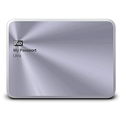 WD 3TB Silver My Passport Ultra Metal Edition Portable External Hard Drive - USB 3.0 - WDBEZW0030BSL-NESN