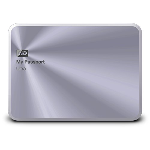 WD 1TB Silver My Passport Ultra Metal Edition Portable  External Hard Drive  - USB 3.0  - WDBTYH0010BSL-NESN (Wd 1tb Portable Hard Drive compare prices)
