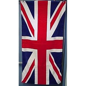 serviette de bain avec le drapeau anglais union jack deco londres. Black Bedroom Furniture Sets. Home Design Ideas