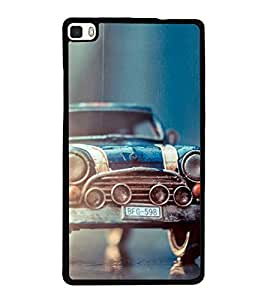 Vizagbeats old car blue Back Case Cover for HUAWEI HONOR P8