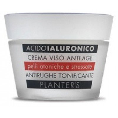 Planter's Antirughe tonificante acido ialuronico crema viso pelli atoniche e stressate 50ml
