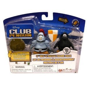 Buy Low Price Jakks Pacific Disney Club Penguin 2 Inch Mix N Match Figure Pack with Knight Chevalier & Ninja Guerrier-Espion (B002W5D0HG)